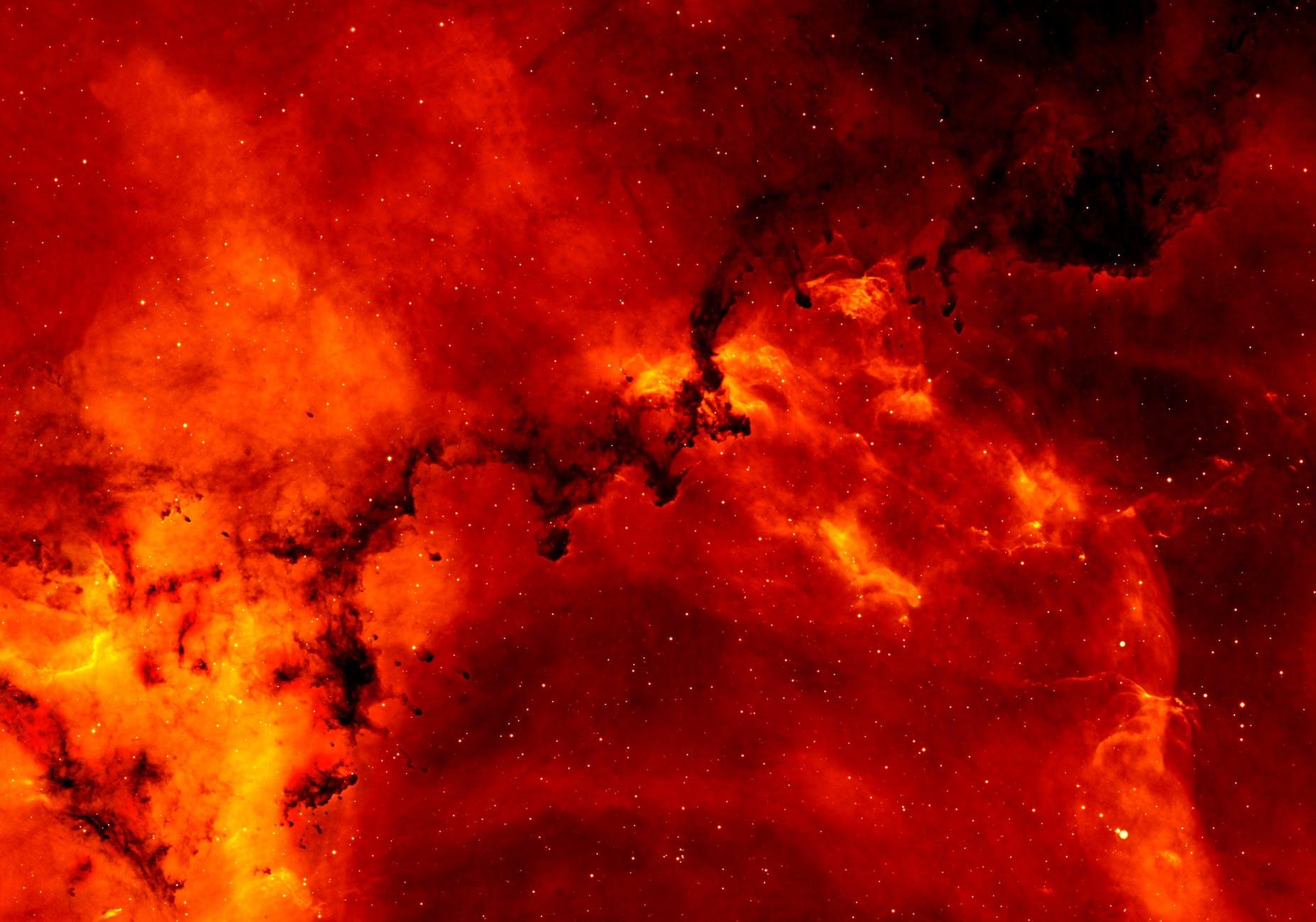 red and orange solar flare